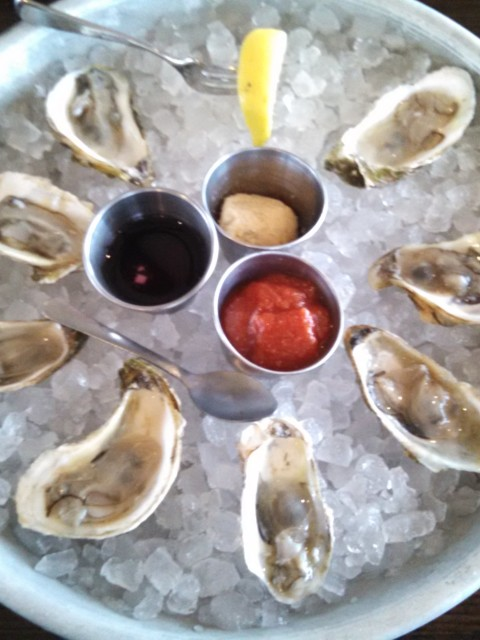 Oysters on the half shell @ Newport happy hour.