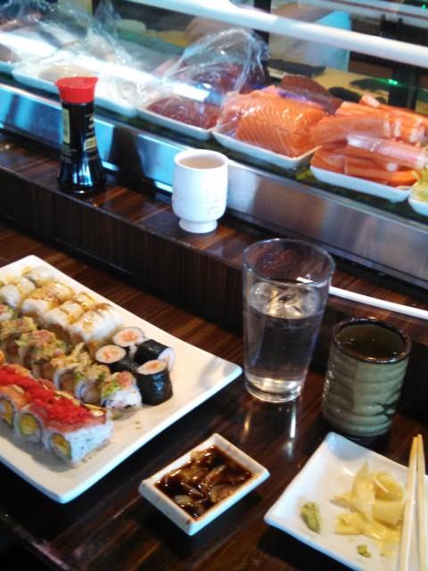 Sushi Mido eating at sushi bar