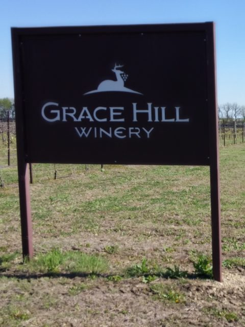 Entrance to Grace Hill Winery