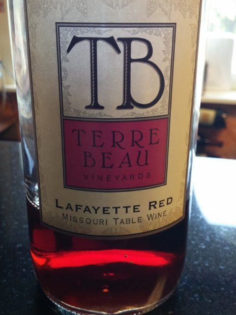 Terra Beau Winery & Vineyard Lafayette Red wine bottle