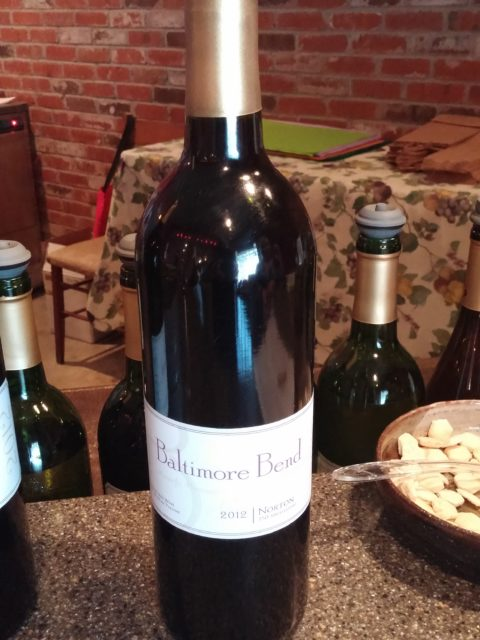 Baltimore Bend Vineyard 2012 Norton wine bottle