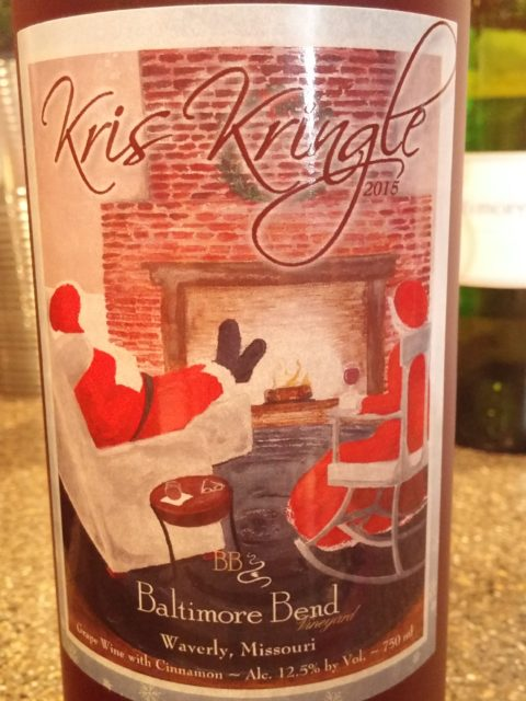 Baltimore Bend Vineyard Kris Kringle wine bottle