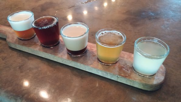 Arcadian Moon beer tasting flight by Impeccably Paired
