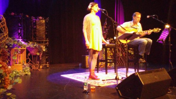Kristina Castenada and Shawn Healey provided Fantastic Musical Ambience for Dubuque Food And Wine 2016: Friday Night in the Mississippi Moon Bar at Diamond Jo Casino