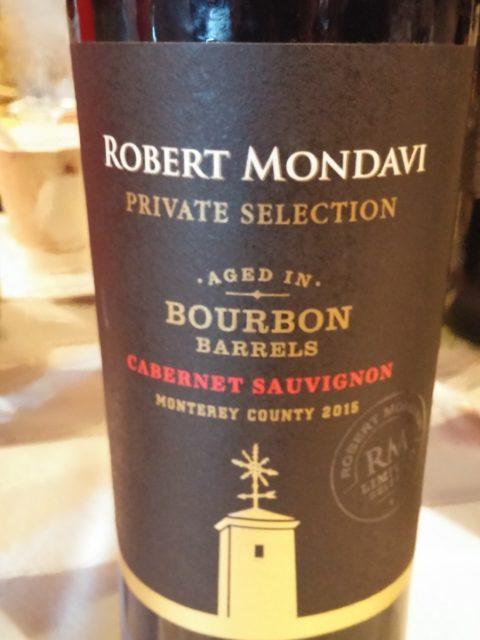 Robert Mondavi Private Selection Cabernet Sauvignon oaked in Bourbon Barrels