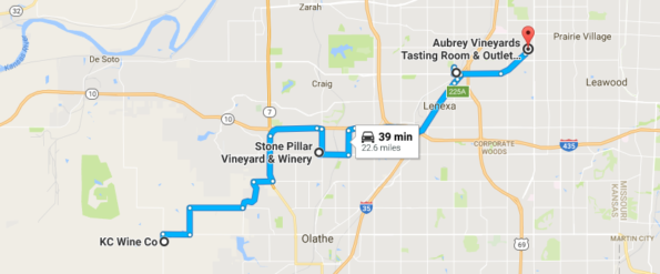JoCo Kansas Wine Trail Map