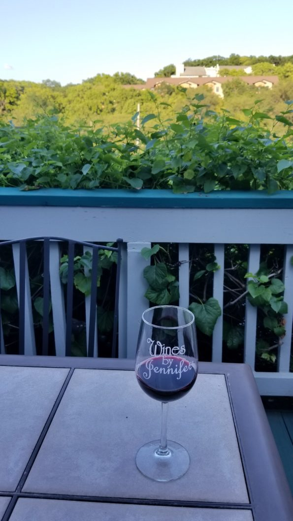 Wines By Jennifer Outdoor Balcony View Overlooking Parkville, Missouri