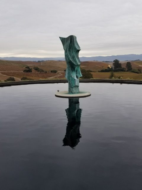 Artesa Estate Vineyards and Winery Fountain Sculpture - Impeccably Paired