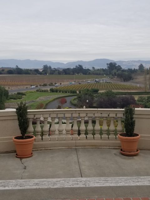 Domain Carneros view of Napa Valley - Impeccably Paired
